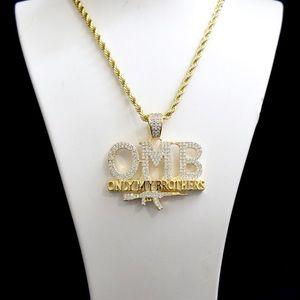 Other - 14k Gold Lab Diamond OMB Ak47 Charm Chain